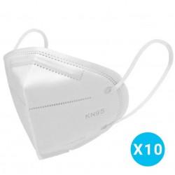 MASQUE PROTECTION KN95 (FFP2) - LOT DE 10 PCS